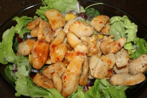 Kjúklingur, salat